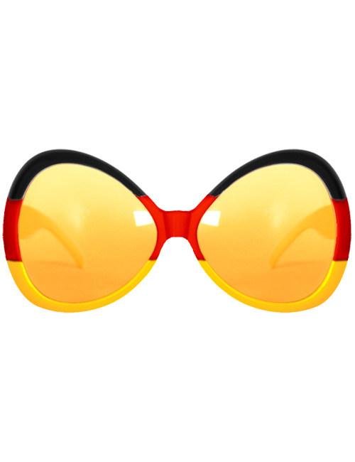 deutschland brille fussball fanartikel schwarz rot gelb. Black Bedroom Furniture Sets. Home Design Ideas
