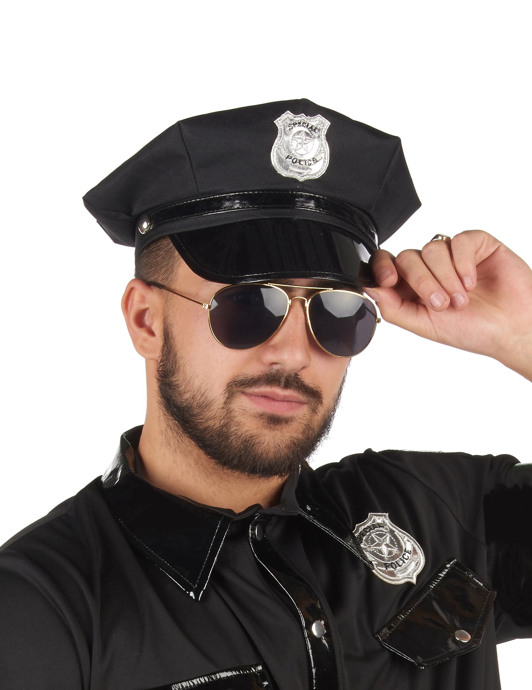 Polizei Mutze Polizist Schwarz Gunstige Faschings Accessoires