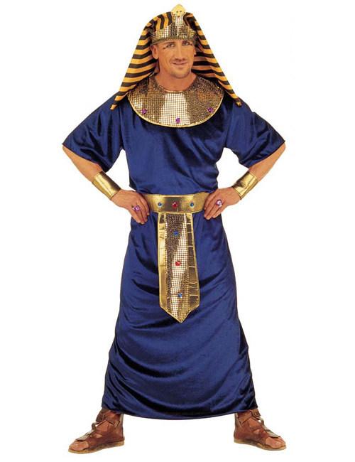 Agypter Kostum Pharao Dunkelblau Gold Gunstige Faschings Kostume