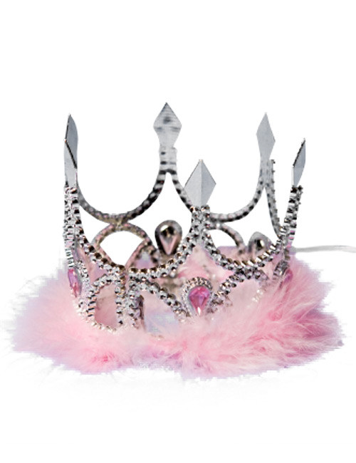 Kronchen Krone Prinzessin Tiara Silber Rosa Gunstige Faschings