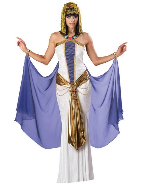 Cleopatra Antike Damen Kostum Weiss Lila Gunstige Faschings