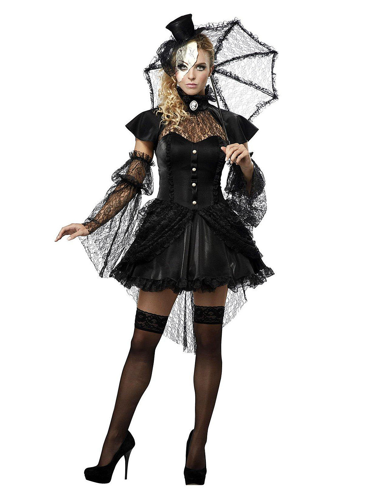 gothic ragdoll halloween damenkost m schwarz g nstige faschings kost me bei karneval megastore. Black Bedroom Furniture Sets. Home Design Ideas