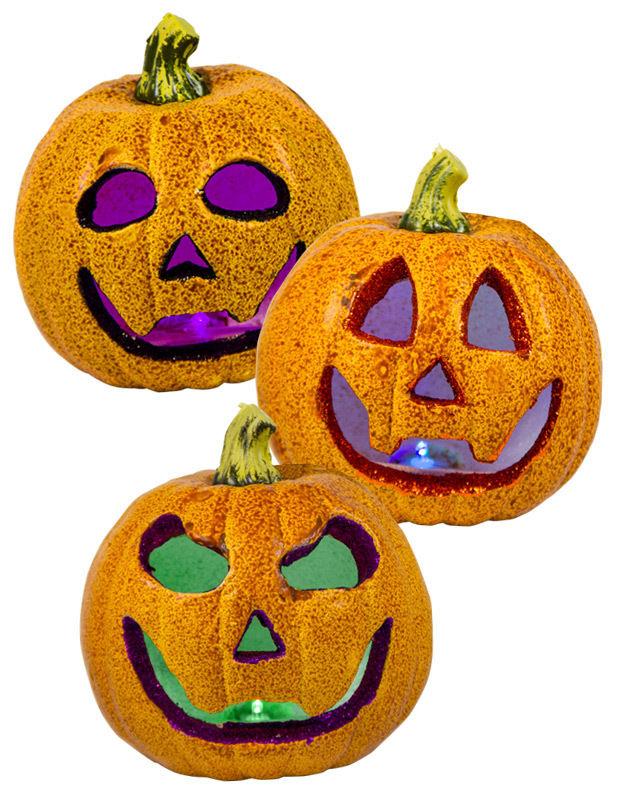 Glitzer Kurbis Mit Farbwechsel Halloween Deko Orange 18x18cm Gunstige Faschings Partydeko Zubehor Bei Karneval Megastore