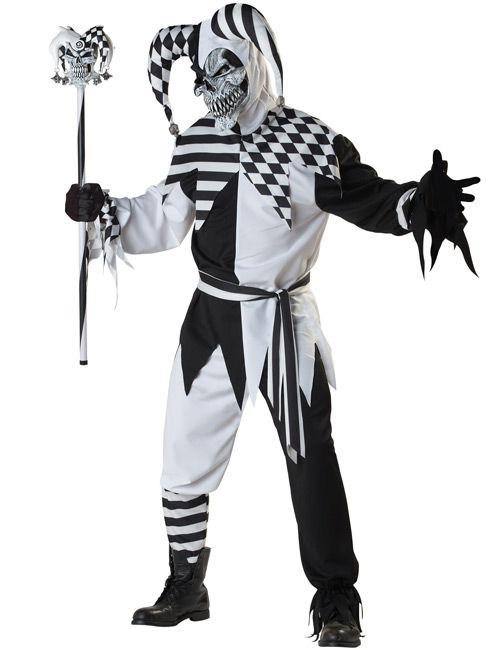 Boser Clown Harlekin Halloween Kostum Schwarz Weiss Gunstige