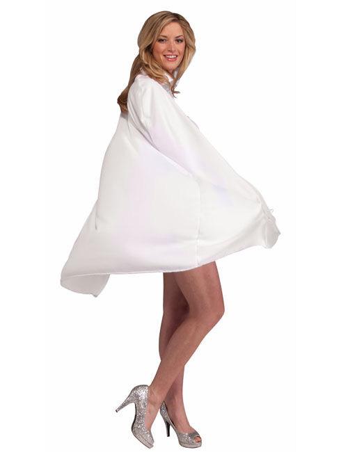 leichtes cape mit kragen umhang weiss g nstige faschings accessoires zubeh r bei karneval. Black Bedroom Furniture Sets. Home Design Ideas