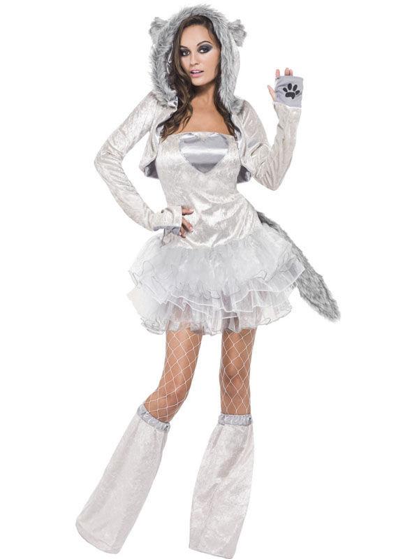 Sexy Wolf Damenkostum Grau Gunstige Faschings Kostume Bei Karneval