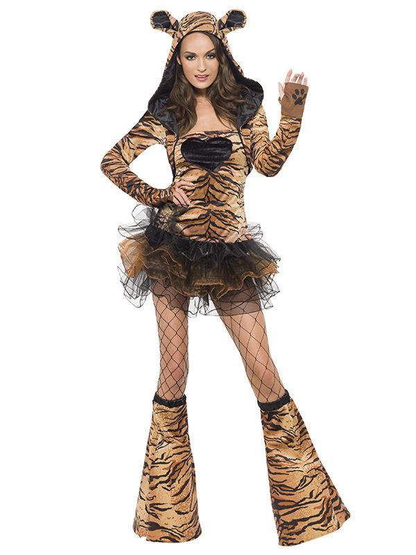 Sexy Tiger Damenkostum Braun Schwarz Gunstige Faschings Kostume