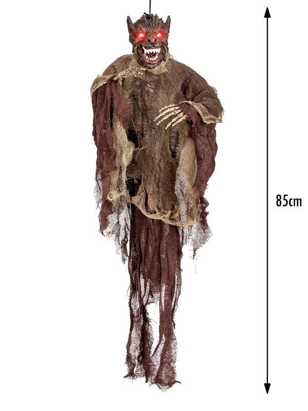 animierter werwolf halloween h ngefigur braun grau 85x60cm g nstige faschings partydeko. Black Bedroom Furniture Sets. Home Design Ideas