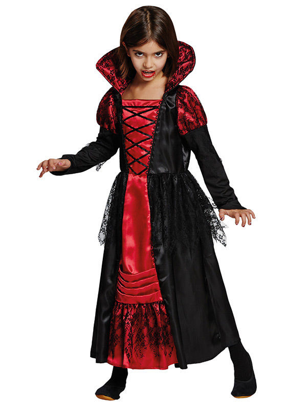 vampir prinzessin halloween kinderkost m schwarz rot. Black Bedroom Furniture Sets. Home Design Ideas