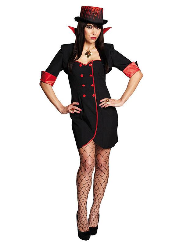 elegante vampirin halloween damenkost m rot schwarz g nstige faschings kost me bei karneval. Black Bedroom Furniture Sets. Home Design Ideas