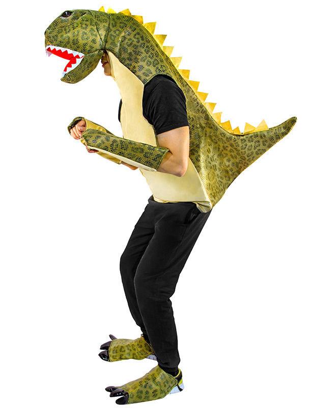 Dinosaurier Drache Unisex Kostum Weiss Grun Gunstige Faschings