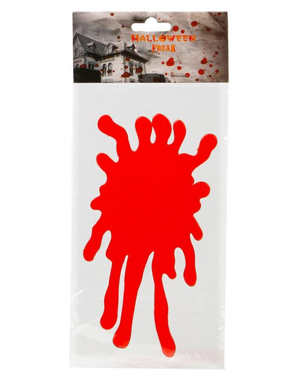 Fenster-Sticker Blut Halloween Party-Deko rot 30x15cm