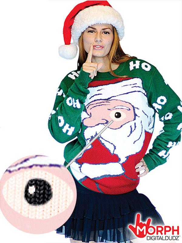 Digital Dudz Christmas Weihnachtsmann Pullover Weihnachten bunt ...