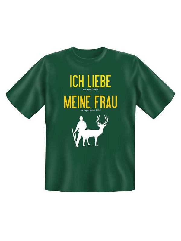 Ich liebe meine Frau Jäger T-Shirt grün-gelb-weiss