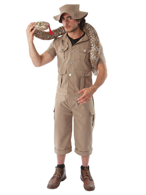 Safari Abenteurer Kostum Dschungel Khaki Gunstige Faschings