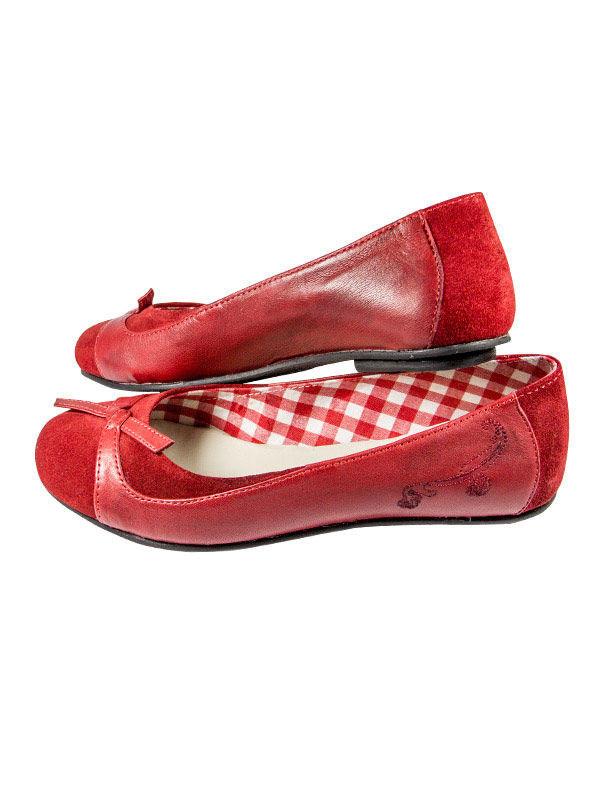 b5213b50a4ae Spieth und Wensky Trachten Schuhe Ballerinas Willow rot , günstige ...