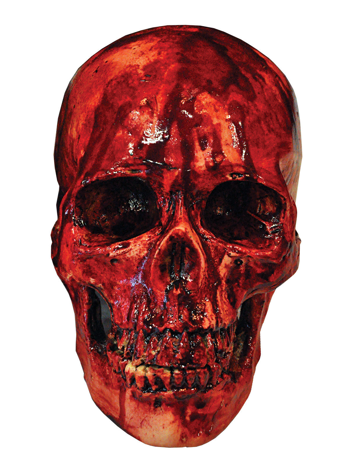 blutiger totenkopf totensch del halloween party deko rot. Black Bedroom Furniture Sets. Home Design Ideas