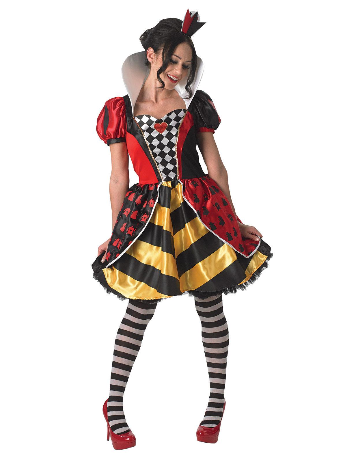 Disney Alice Im Wunderland Herzkonigin Damenkostum Lizenzware Bunt