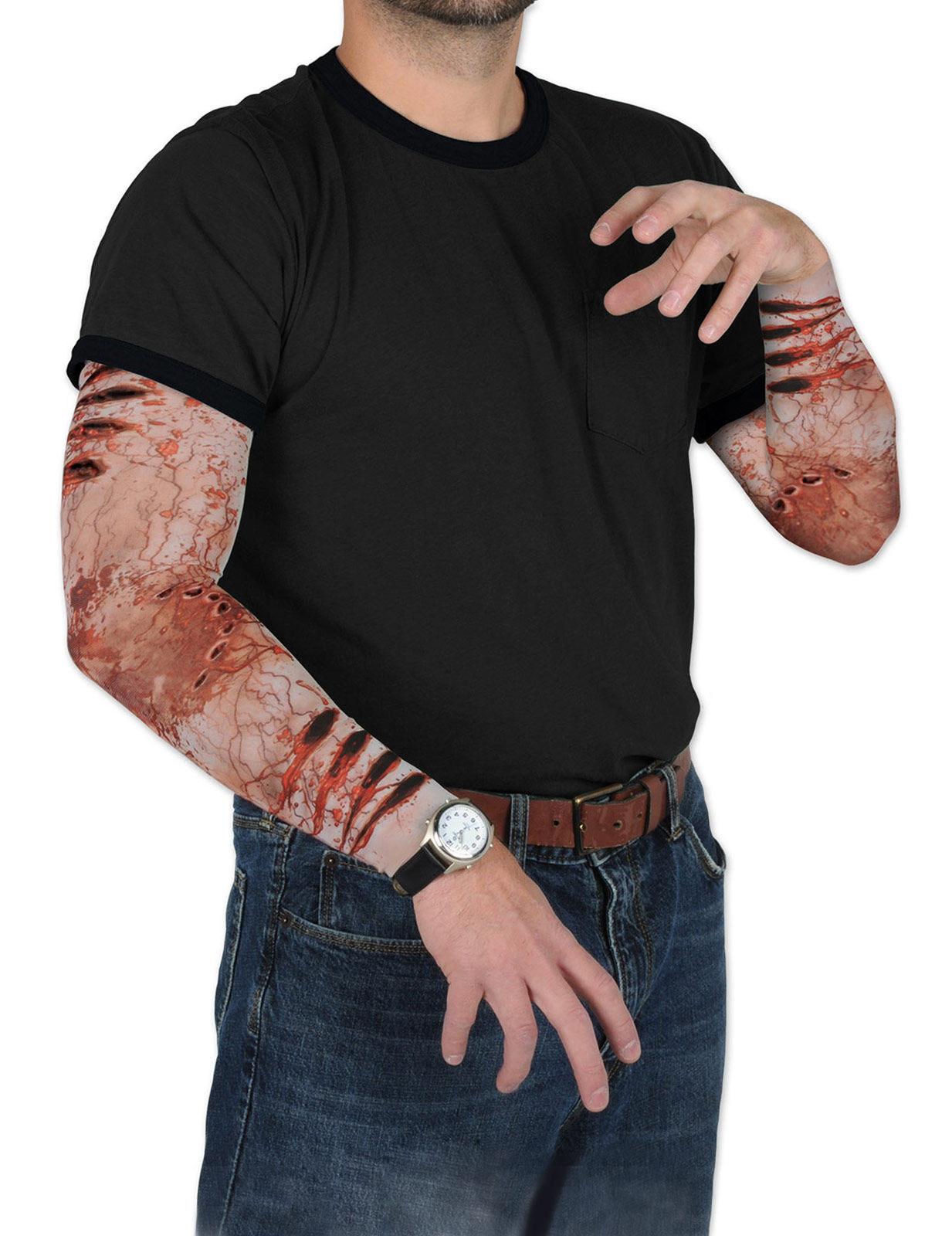tattoo rmel zombie biss halloween bunt g nstige faschings accessoires zubeh r bei karneval. Black Bedroom Furniture Sets. Home Design Ideas