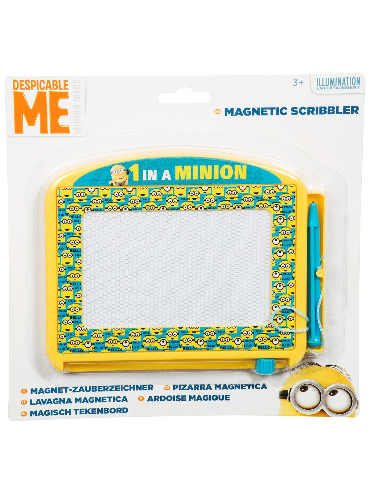 minions magnettafel kinder-maltafel gelb-blau 17x15cm , günstige