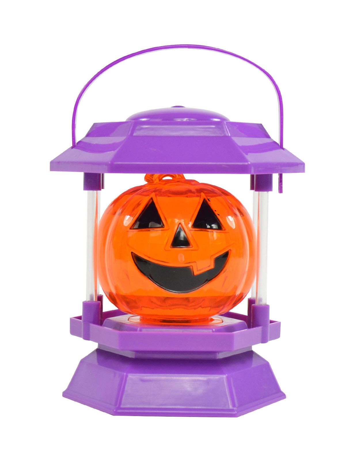 blinkender k rbis halloween party deko lila 11 5x10x17 5cm. Black Bedroom Furniture Sets. Home Design Ideas