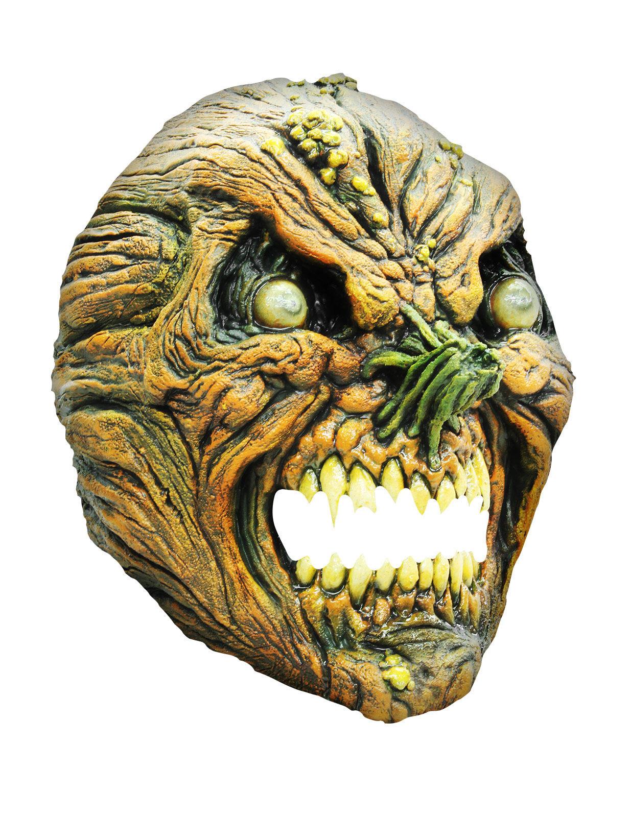 faltiger k rbis halloween latex maske monster gr n beige g nstige faschings masken bei. Black Bedroom Furniture Sets. Home Design Ideas