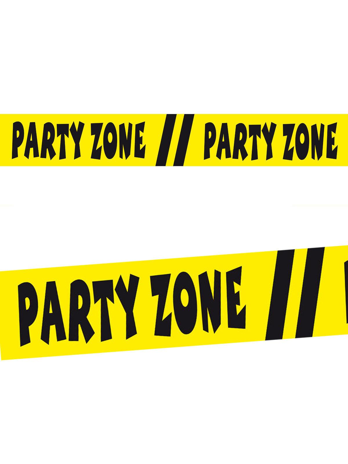 Favorit Absperrband Party-Zone Party-Deko gelb-schwarz 15m , günstige AI61