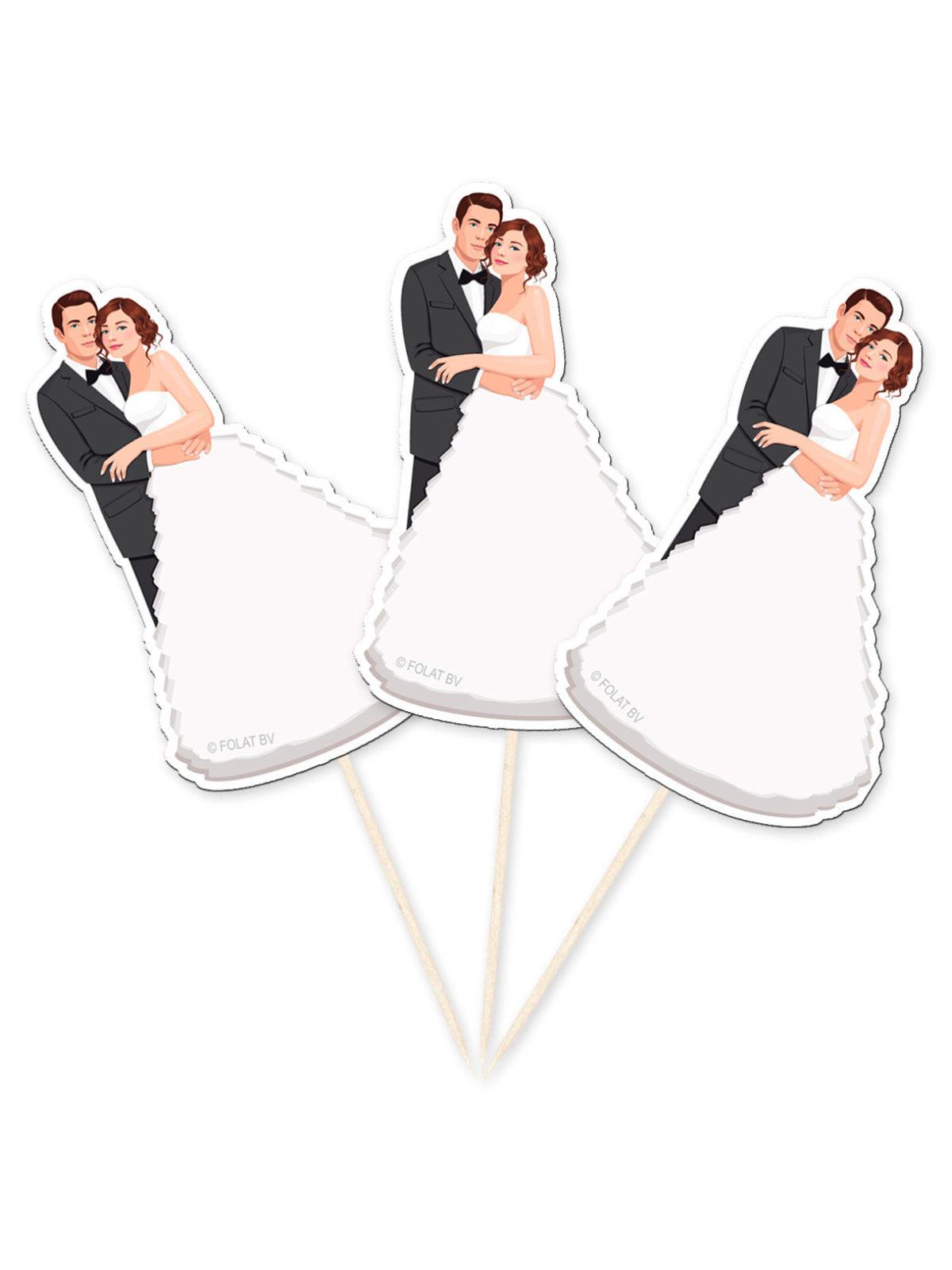 hochzeit party picker brautpaar tisch deko 10 st ck. Black Bedroom Furniture Sets. Home Design Ideas