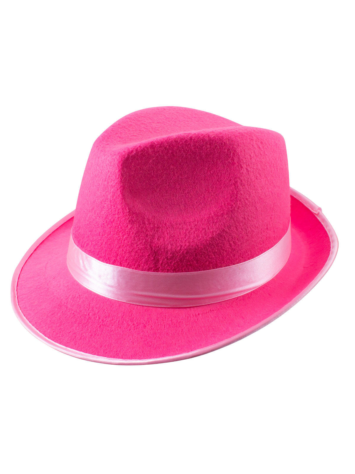 Trilby Party Hut Fedora Mit Hutband Pink Gunstige Faschings