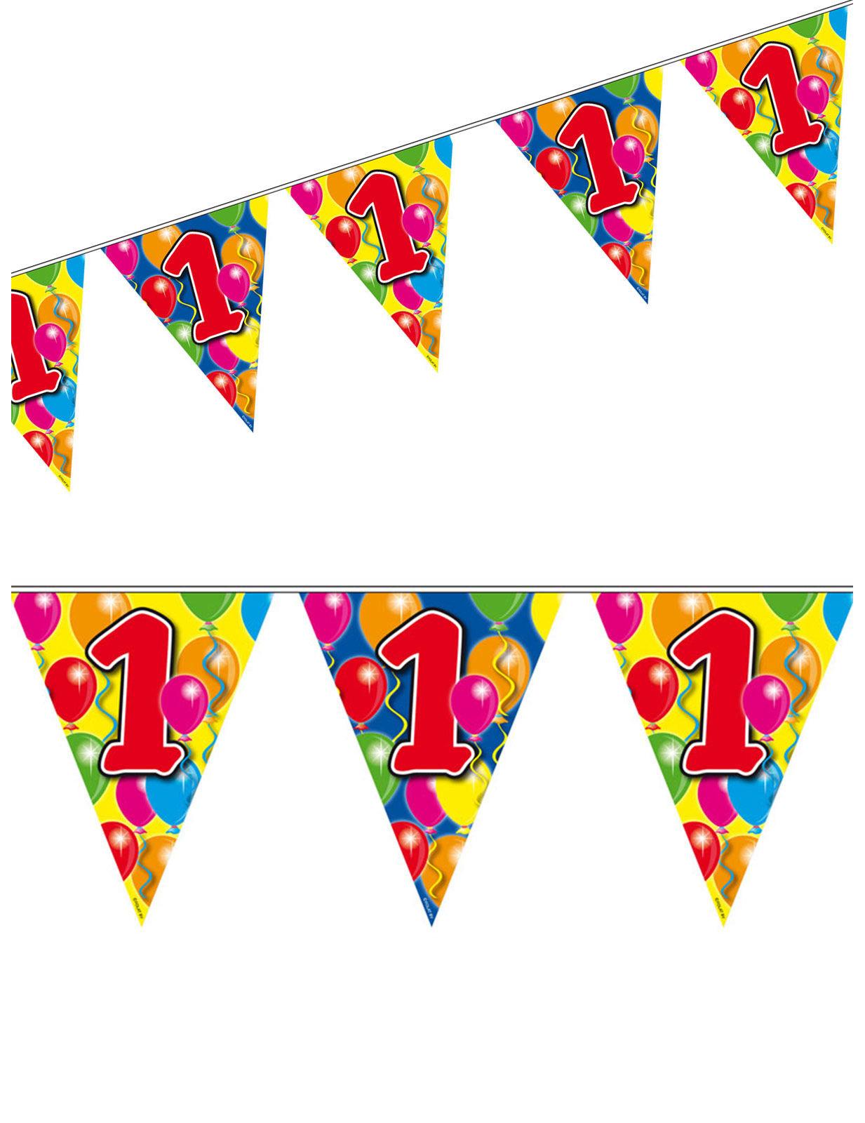 1. Geburtstag Wimpel-Girlande Party-Deko bunt 10m