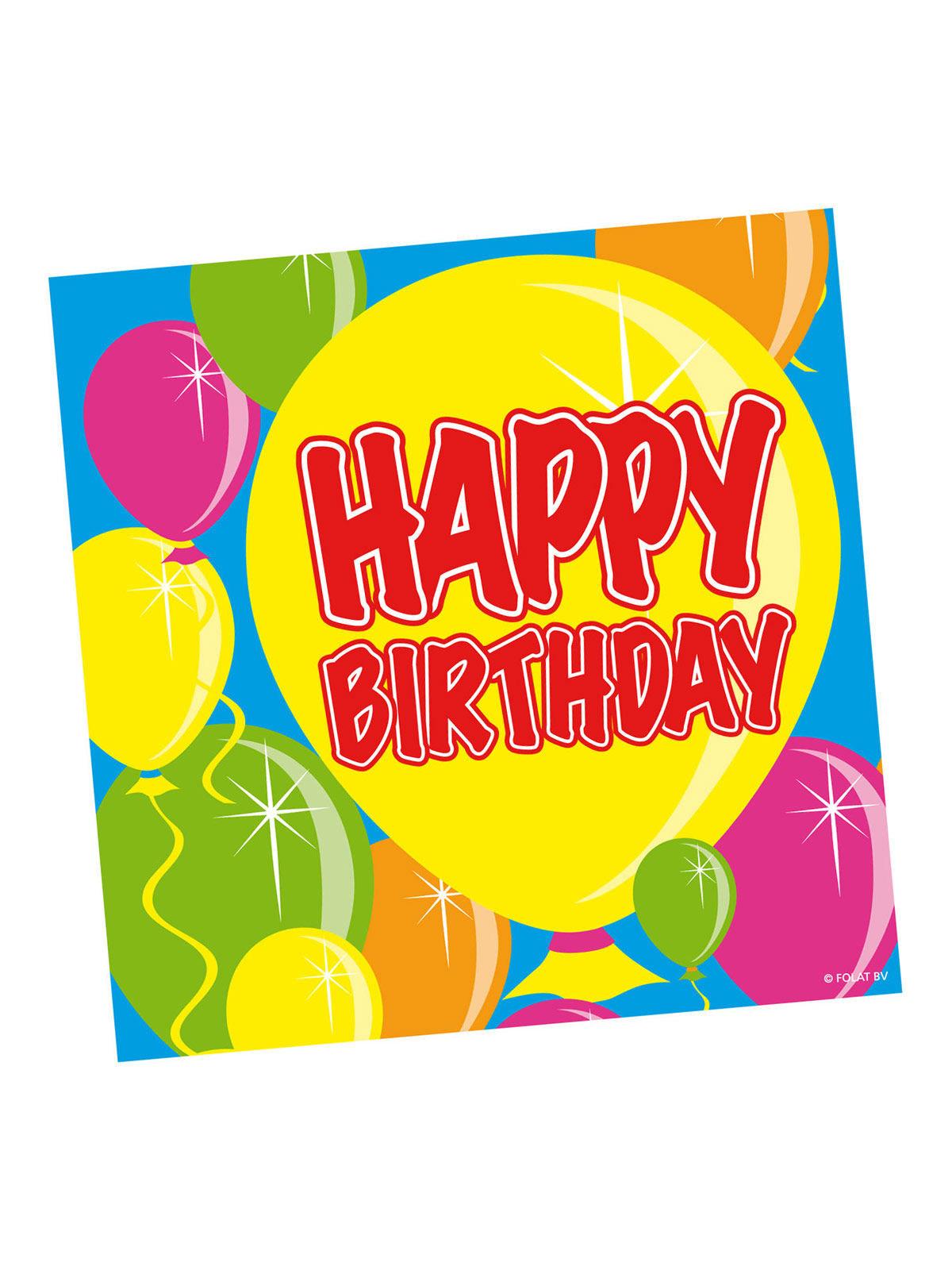 Happy birthday servietten geburtstag party deko 20 st ck - Deko 25 geburtstag ...