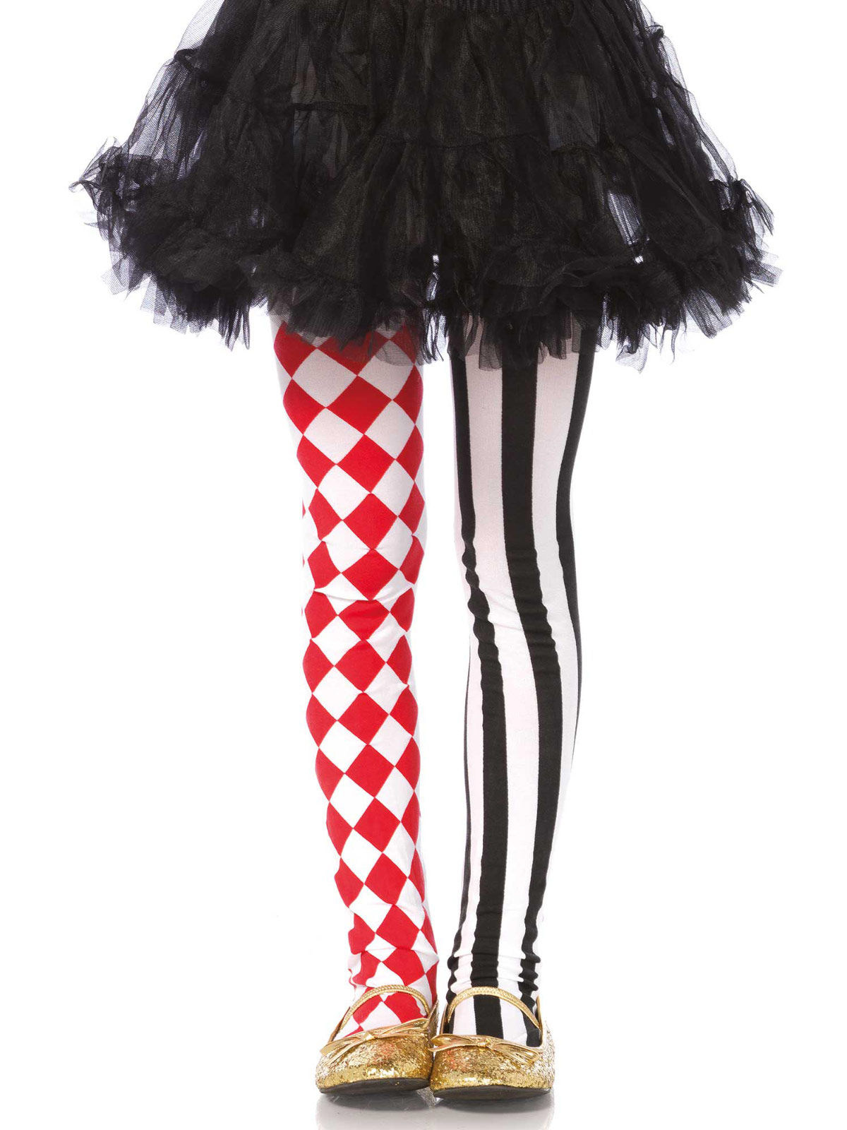 harlekin strumpfhose f r kinder clown schwarz rot weiss g nstige faschings accessoires. Black Bedroom Furniture Sets. Home Design Ideas