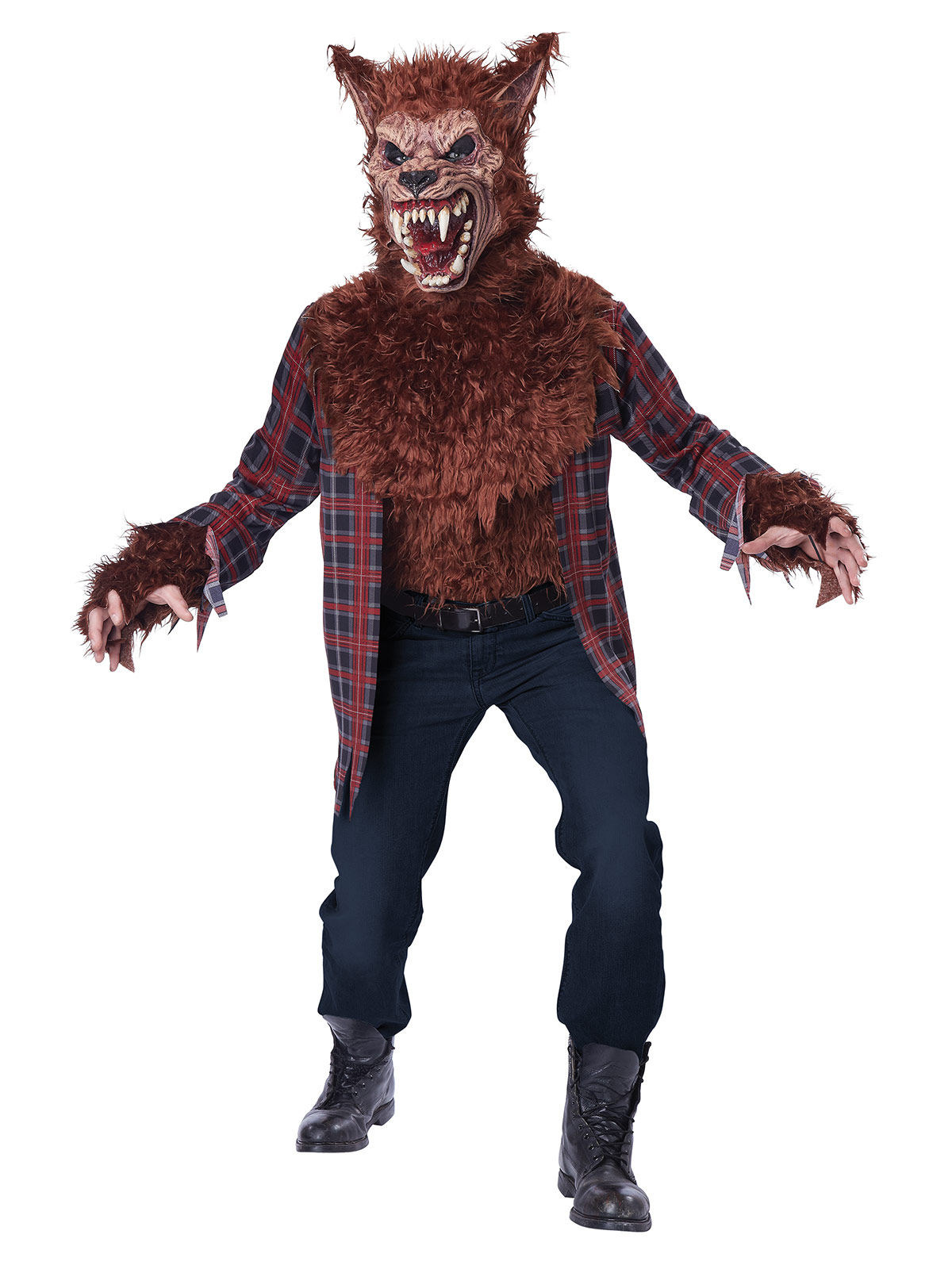 horror werwolf halloweenkost m braun rot g nstige faschings kost me bei karneval megastore. Black Bedroom Furniture Sets. Home Design Ideas