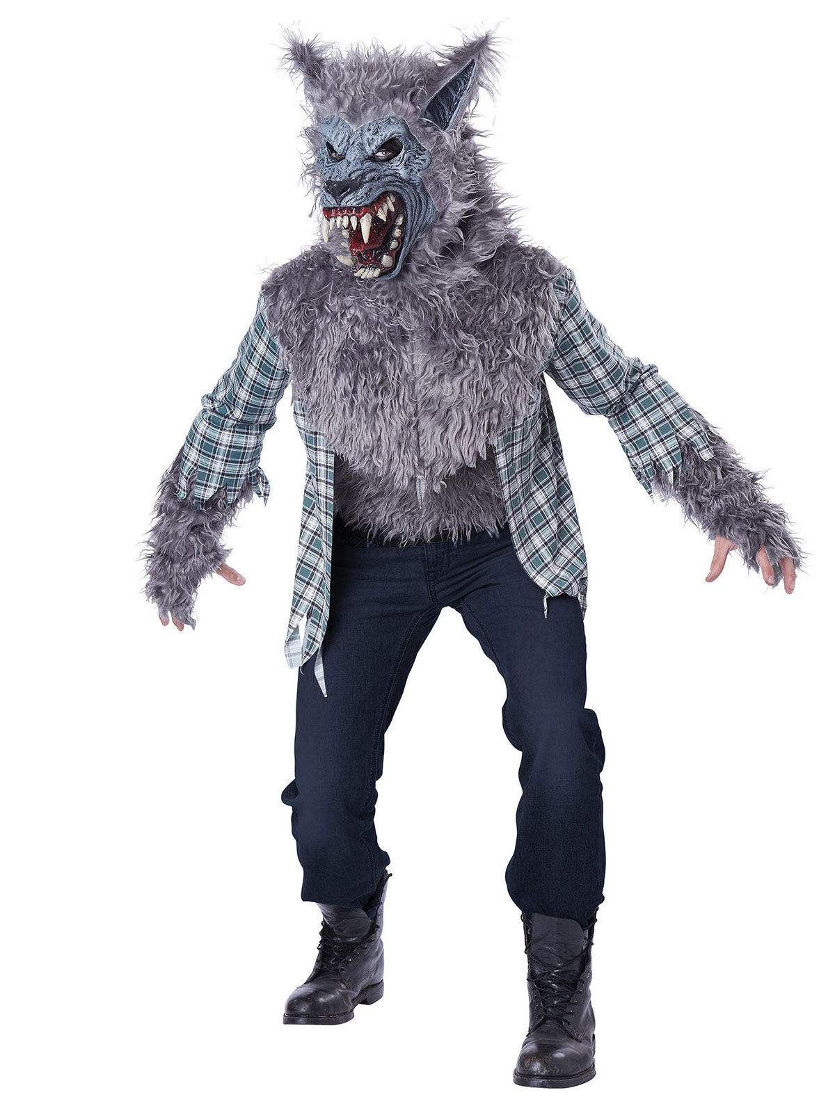 horror werwolf halloweenkost m grau weiss g nstige faschings kost me bei karneval megastore. Black Bedroom Furniture Sets. Home Design Ideas
