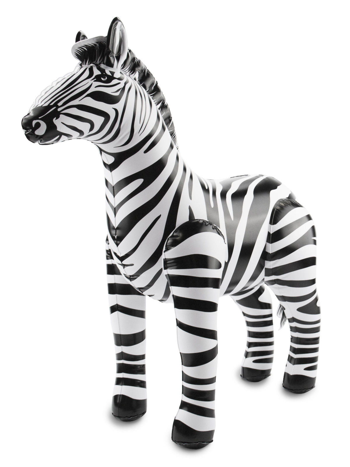 aufblasbares zebra party-deko schwarz-weiss 60x55x25cm , günstige