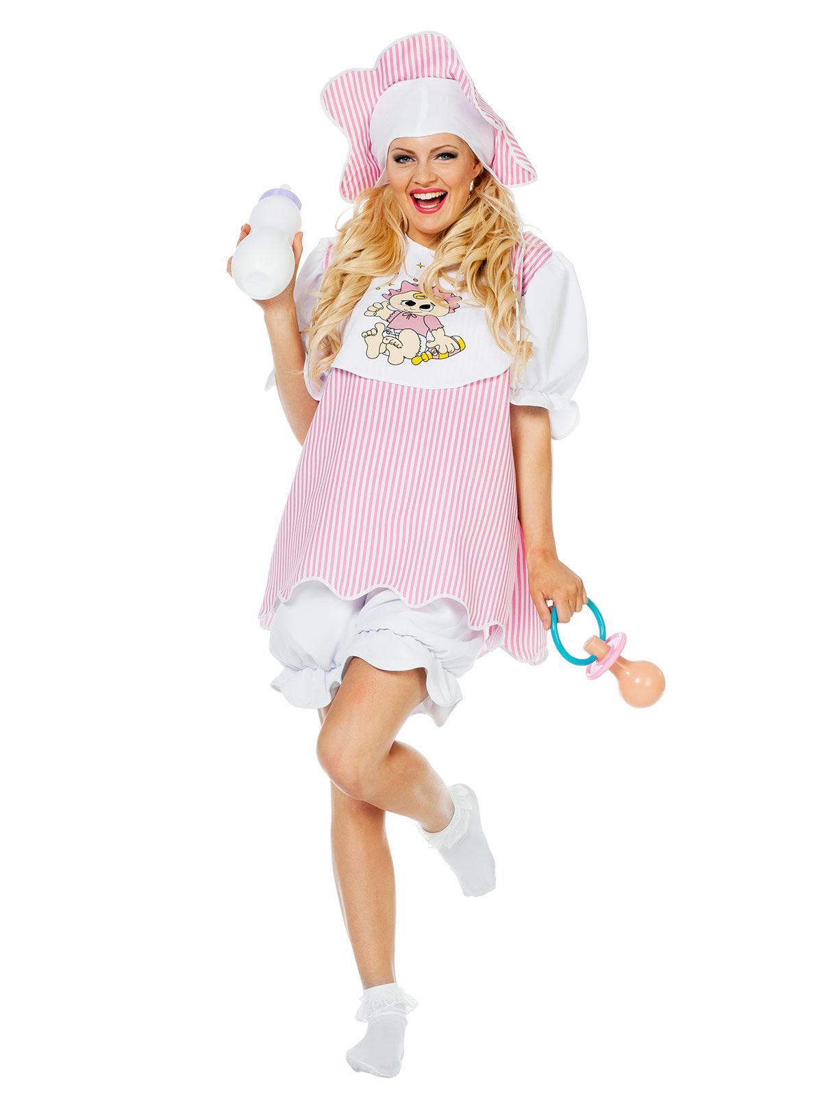 baby damenkost m kleinkind rosa weiss g nstige faschings kost me bei karneval megastore. Black Bedroom Furniture Sets. Home Design Ideas