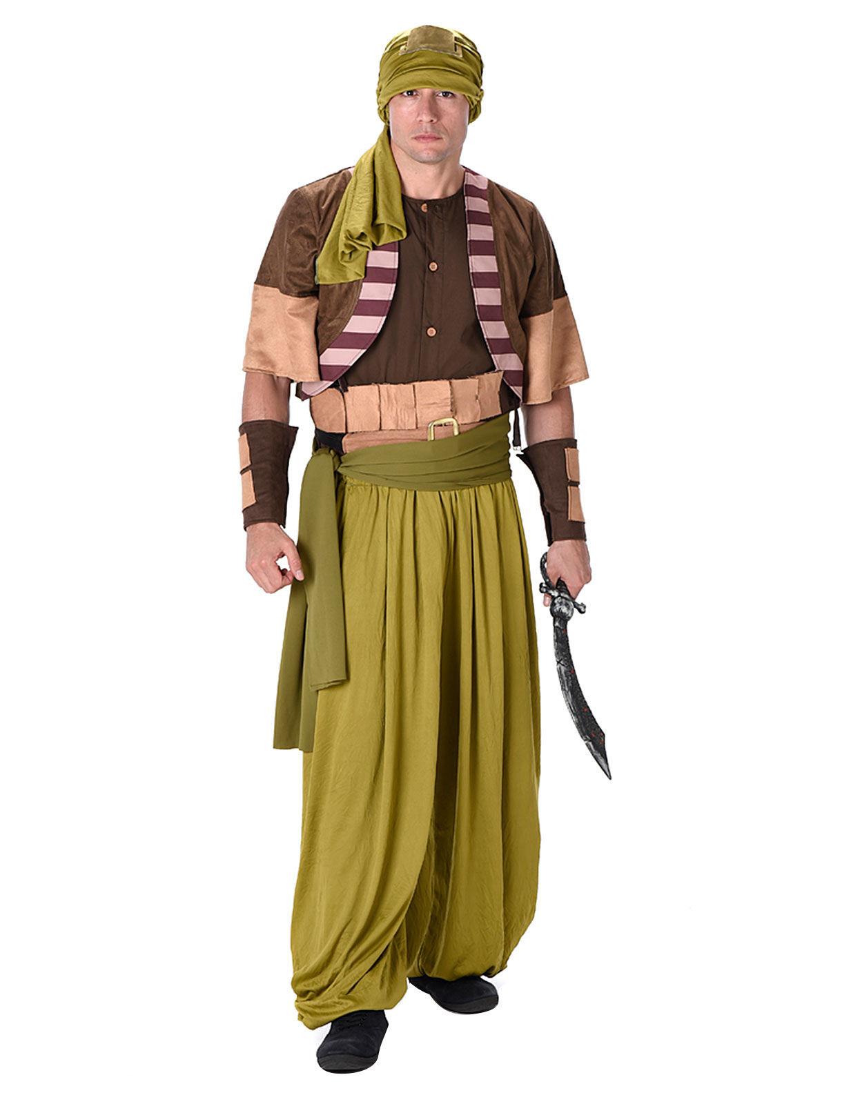 Wusten Krieger Kostum Orient Beige Braun Grun Gunstige Faschings