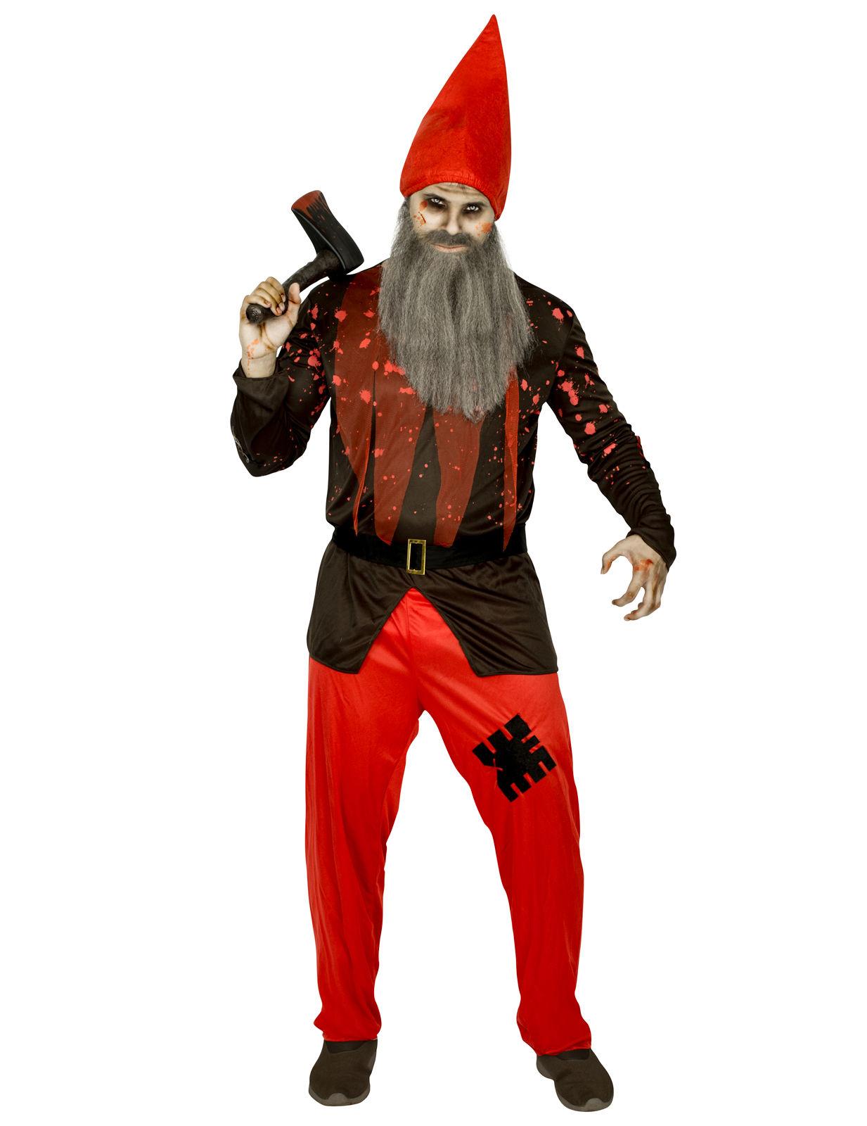 Horror Zwerg Halloweenkostum Rot Schwarz Gunstige Faschings