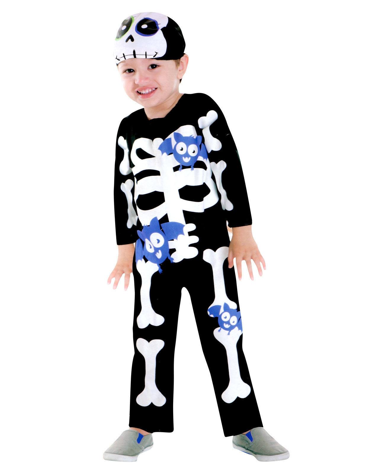 Kinderkostüm Skelett Knochen Overall leuchtend