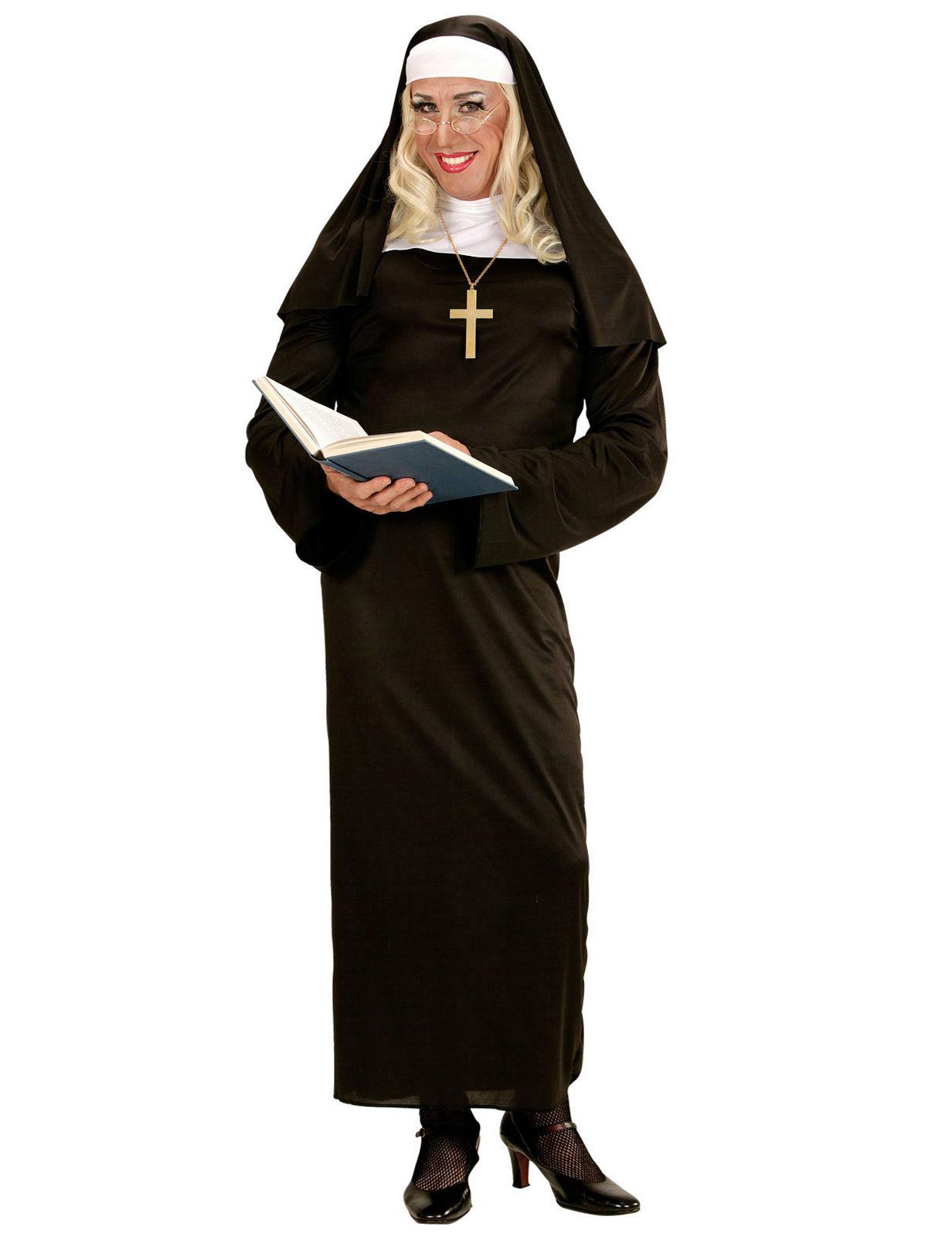 Nonne Religioses Damenkostum Schwarz Weiss Gunstige Faschings