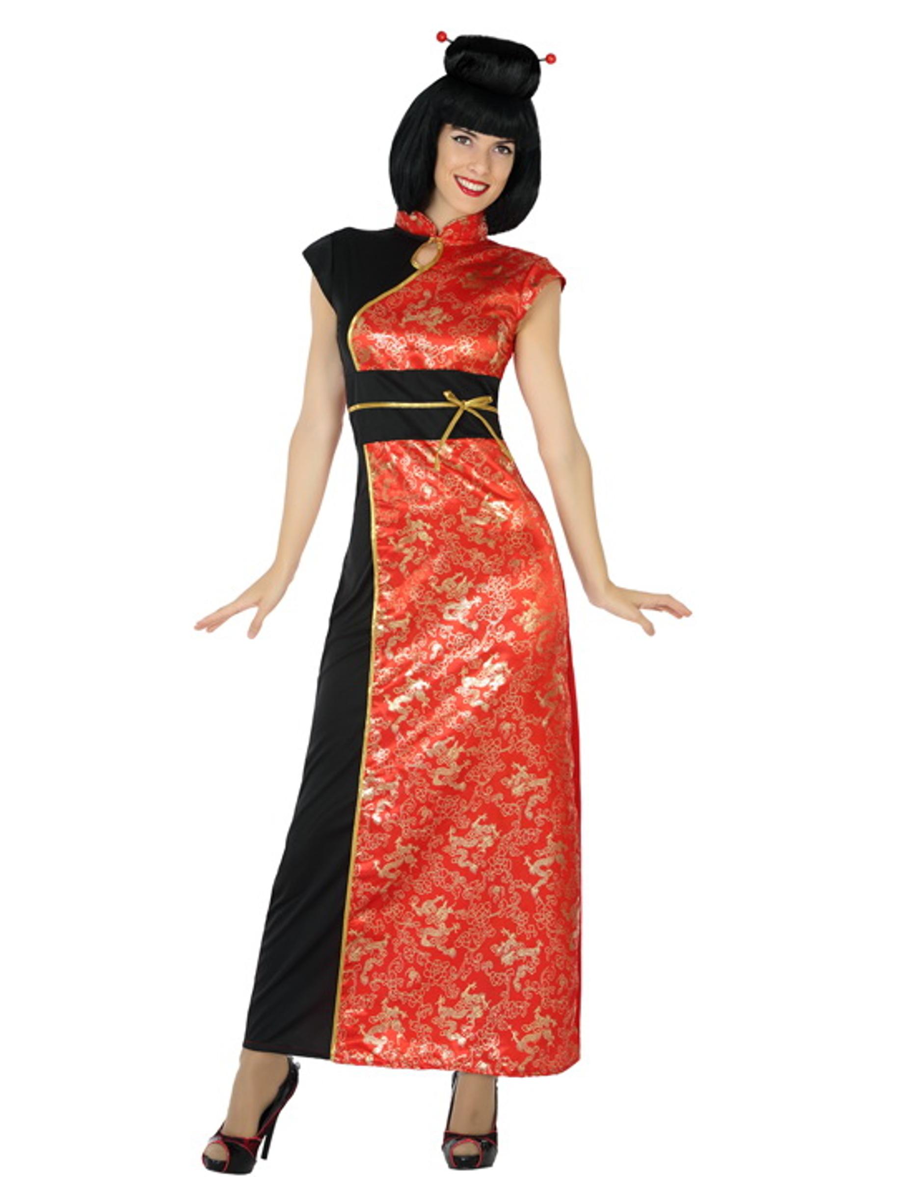 elegante chinesin damenkost m asiatin plus size rot g nstige faschings kost me bei karneval. Black Bedroom Furniture Sets. Home Design Ideas