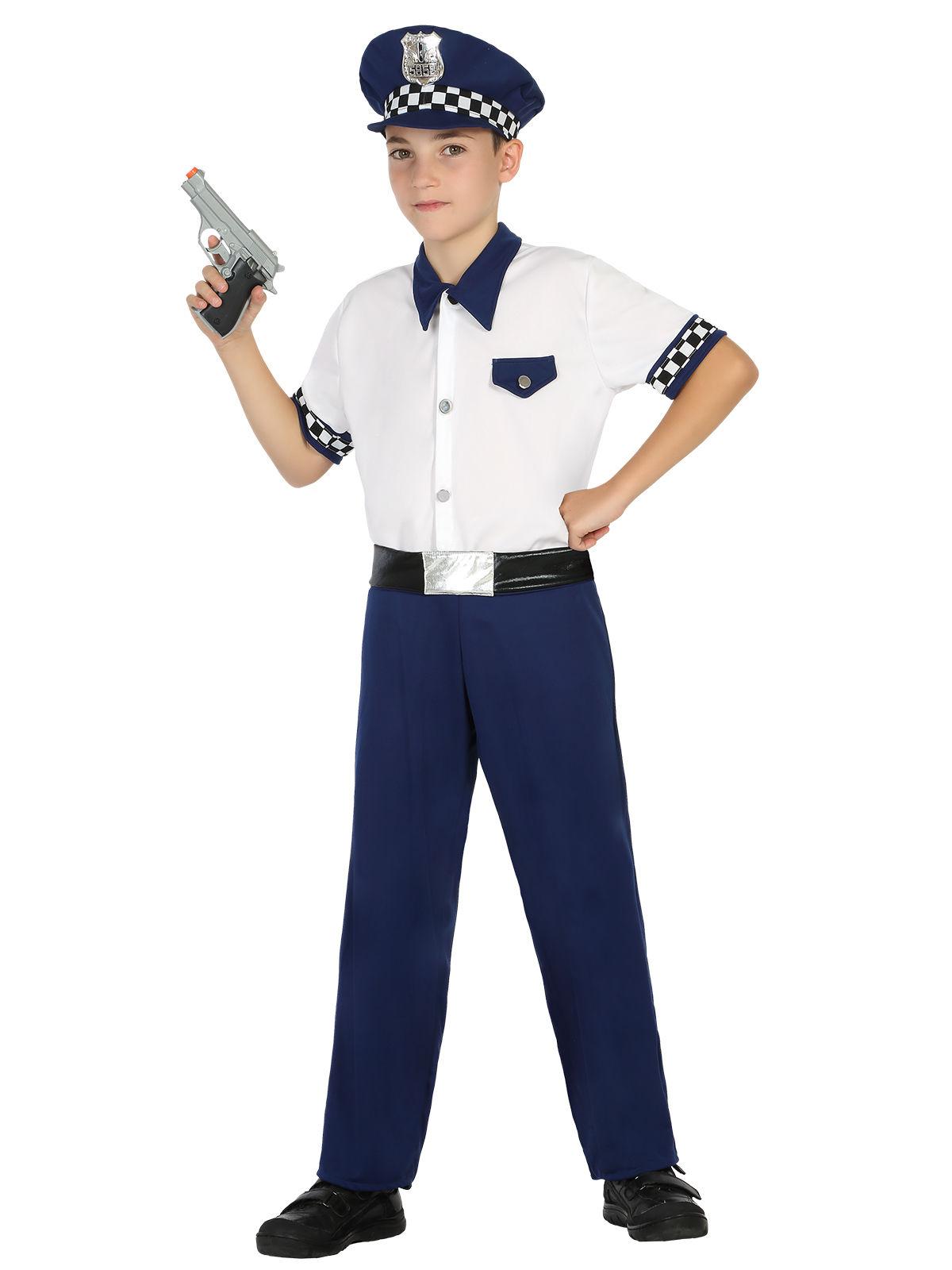 Kleiner Polizist Kinderkostum Officer Weiss Blau Gunstige