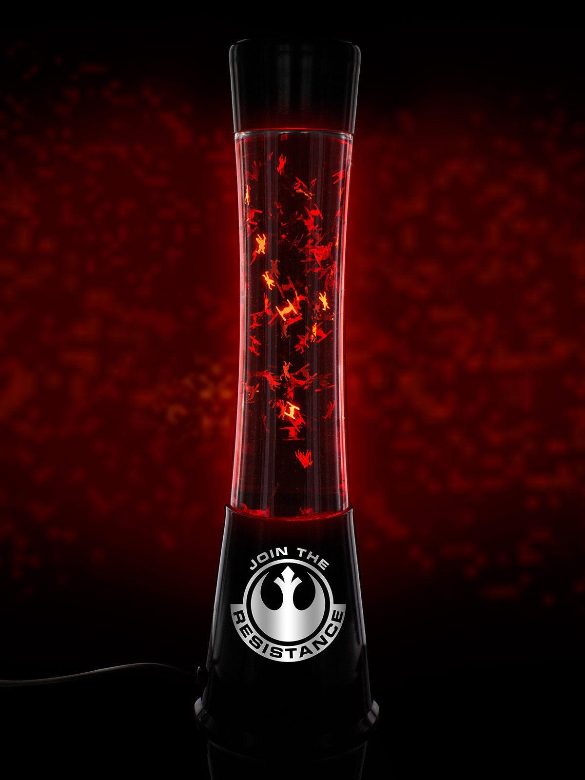 Star Wars Lava-Lampe Glitzer Leuchte Lizenzware schwarz-rot 40cm ...