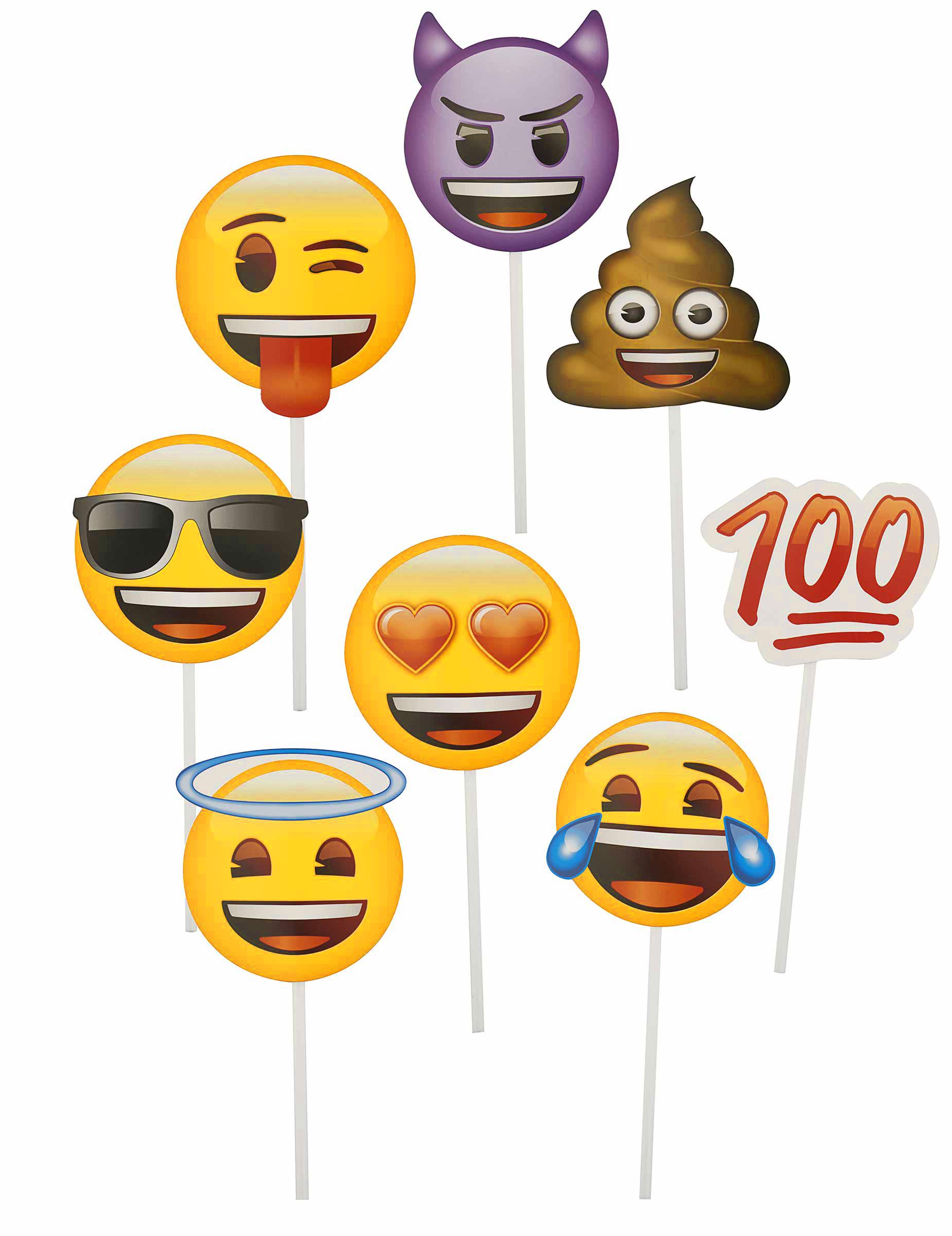 Photo Accessoires Emoji Smiley Zubehor 8 Stuck Bunt Gunstige