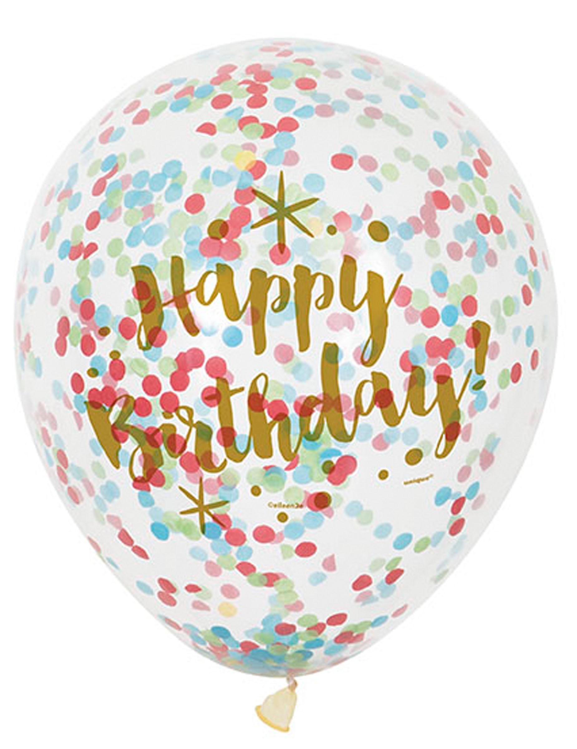 Konfetti-Luftballons 15pcs mit Bandhochzeits-Partydekor