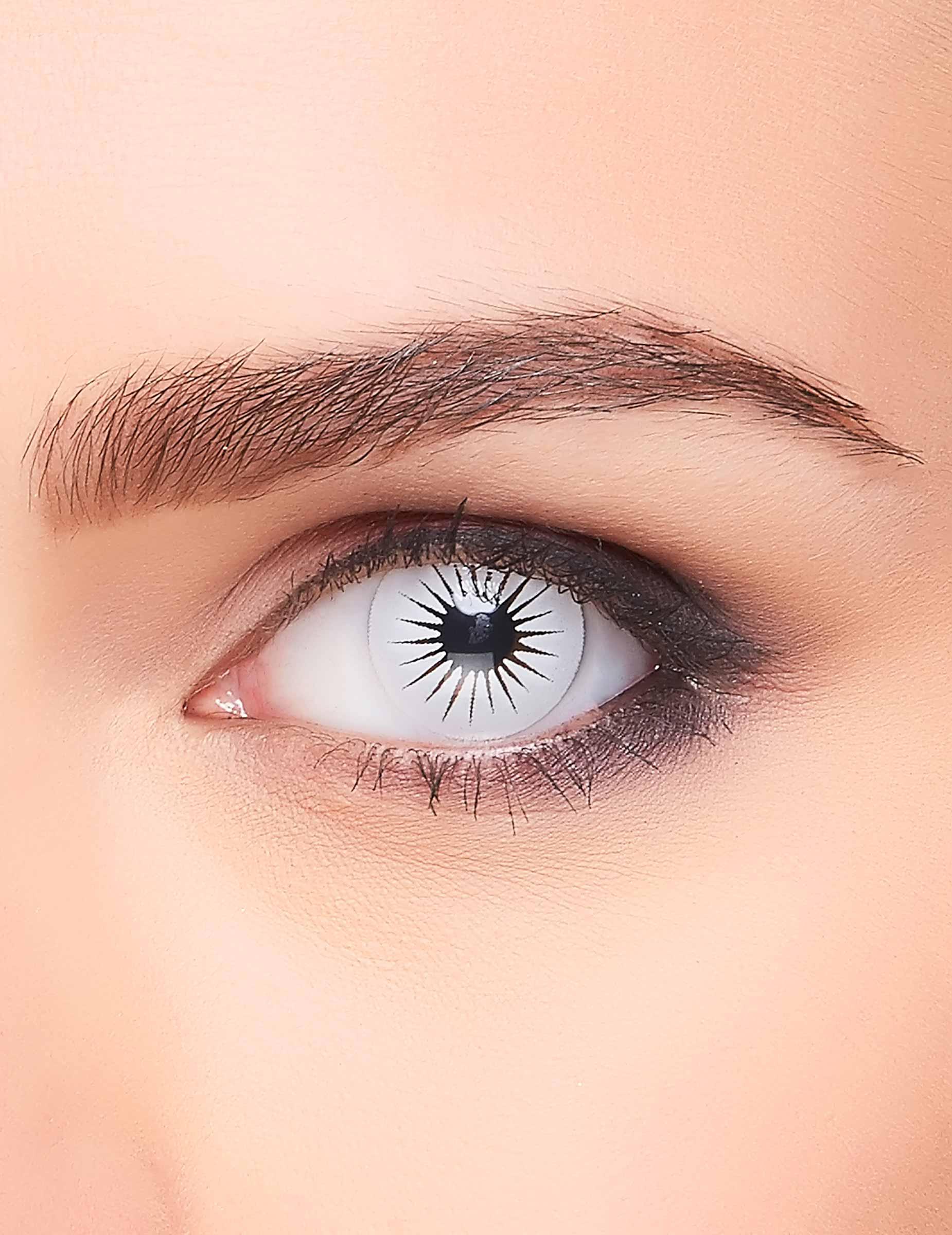 kontaktlinsen stern weiss g nstige faschings make up bei. Black Bedroom Furniture Sets. Home Design Ideas