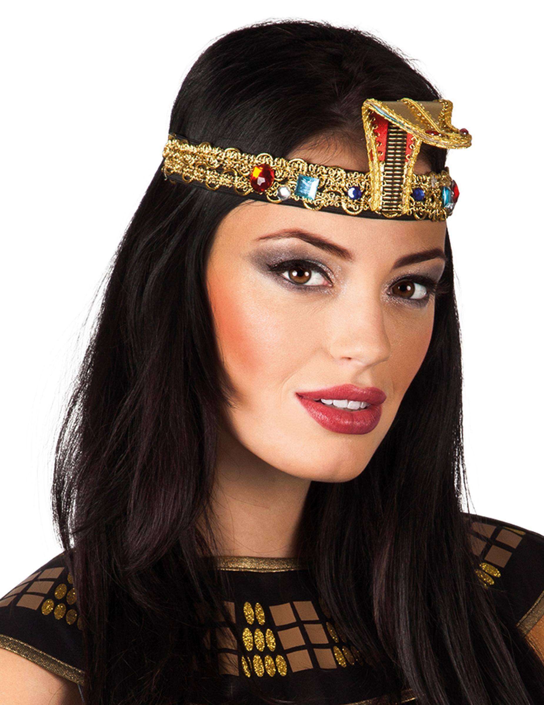Agyptische Pharaonin Cleopatra Stirnband Mit Schlange Kostum