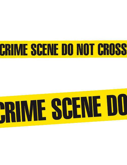 Turbo Absperrband CRIME SCENE DO NOT CROSS Halloween-Deko schwarz-gelb GH35