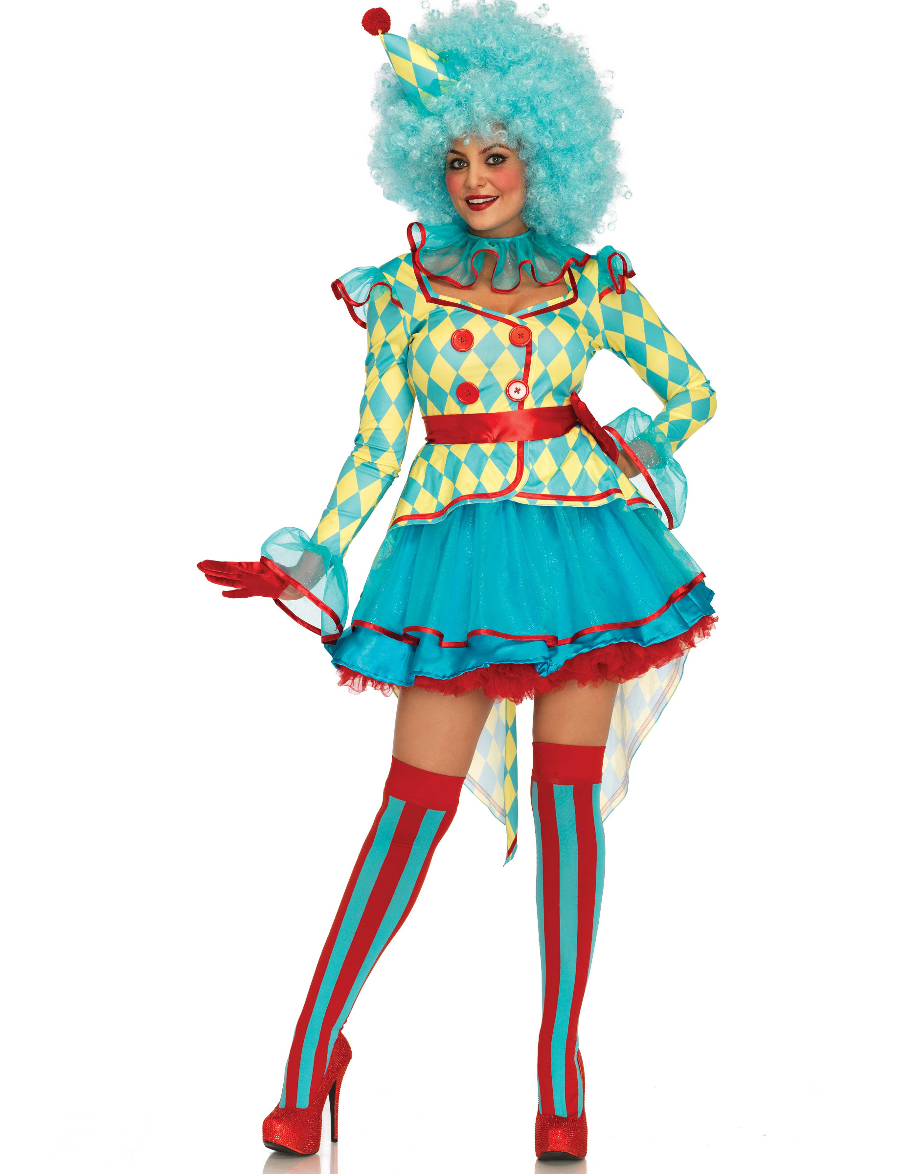 clowns kost m mit t t g nstige faschings kost me bei karneval megastore. Black Bedroom Furniture Sets. Home Design Ideas