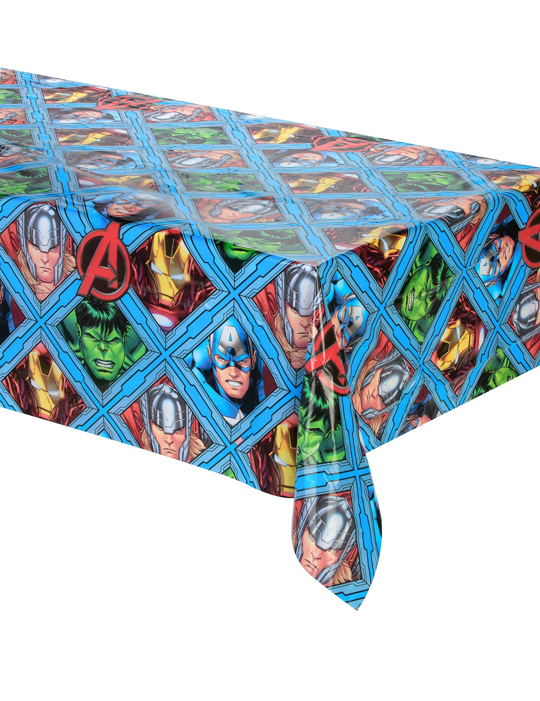 avengers tischdecke superhelden tischdeko bunt 120x180cm. Black Bedroom Furniture Sets. Home Design Ideas